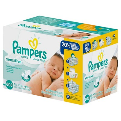 Pampers Sensitive Wipes 13x Refill - 808 ct