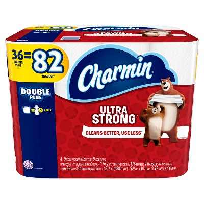 Charmin Ultra Strong Toilet Paper - 36 Double Rolls