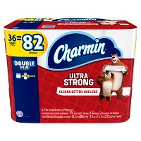 Charmin 36 Double Plus Rolls Ultra Strong Bath Tissue + $10 Gift Card