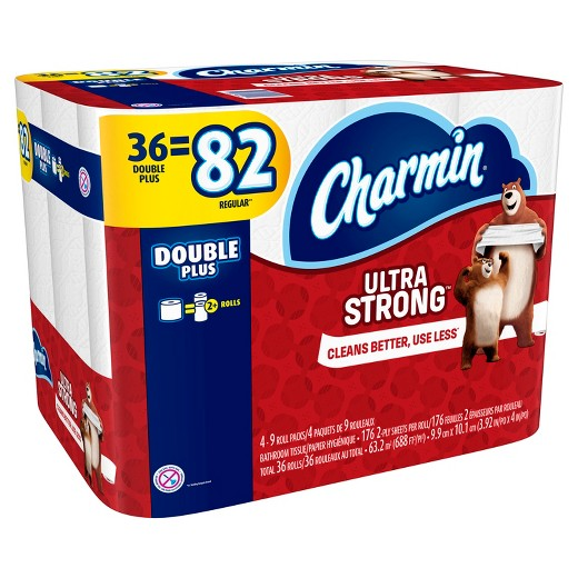 Charmin® Ultra Strong™ Bath Tissue 36 Double Plus Rolls : Target