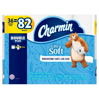 Charmin Ultra Soft Toilet Paper - 36 Double Rolls