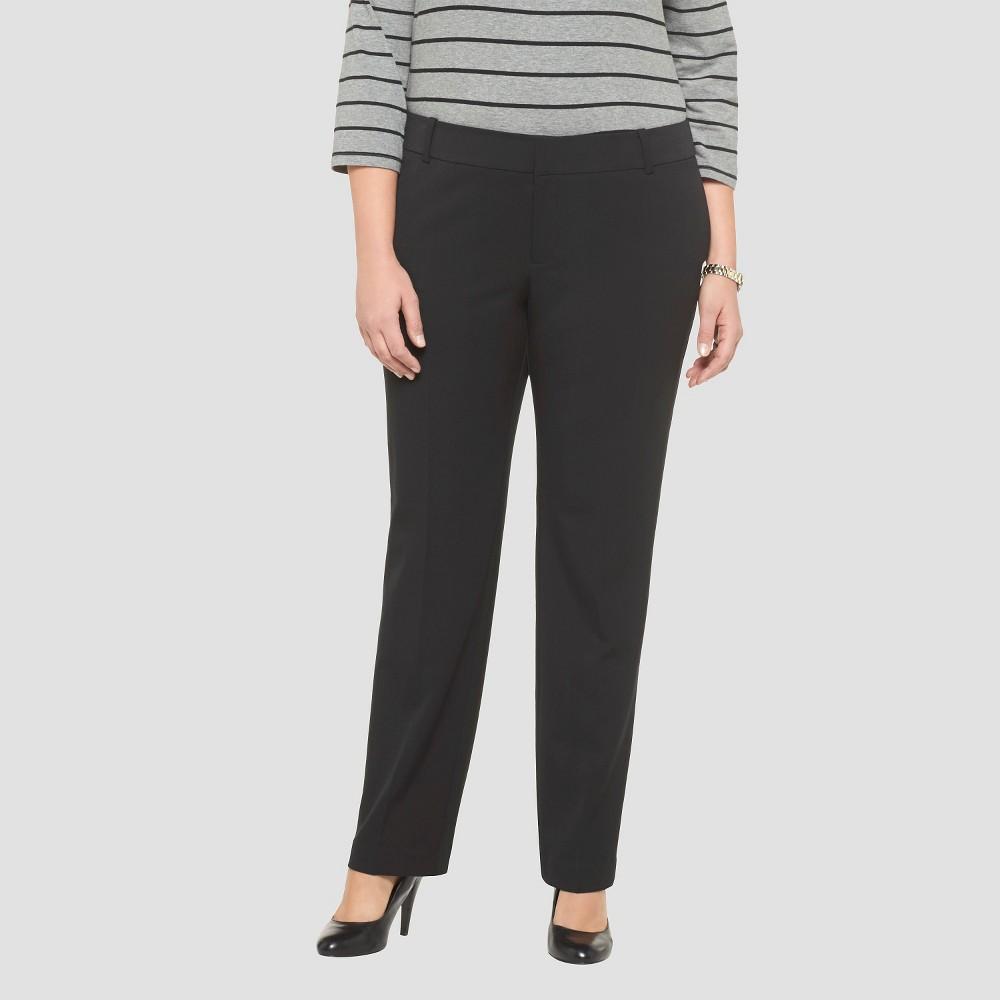 Women's Plus Size Straight Leg Twill Pants - Black - 26W - Merona plus size,  plus size fashion plus size appare