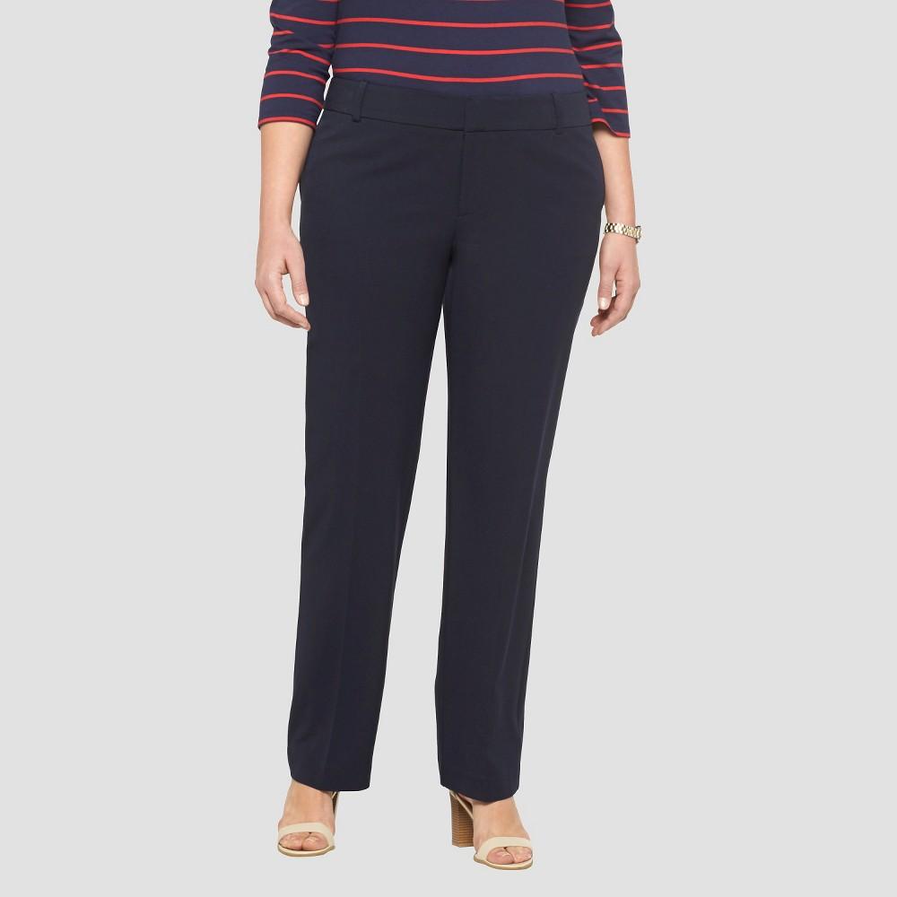 Women's Plus Size Straight Leg Twill Pants - Federal Blue - 16W - Merona plus size,  plus size fashion plus size appare