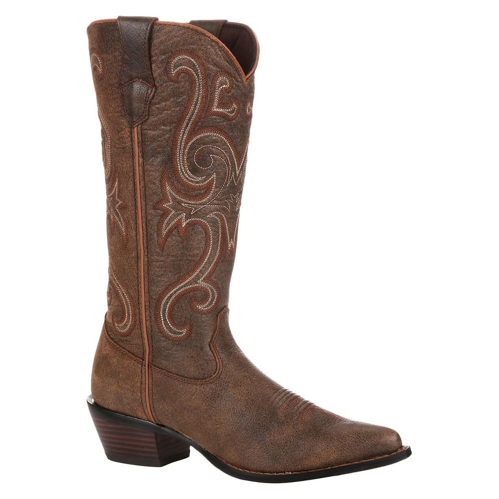 Womens Durango Jealousy Crush Boots - Dark Chestnut 9M, Size: 9, Brown