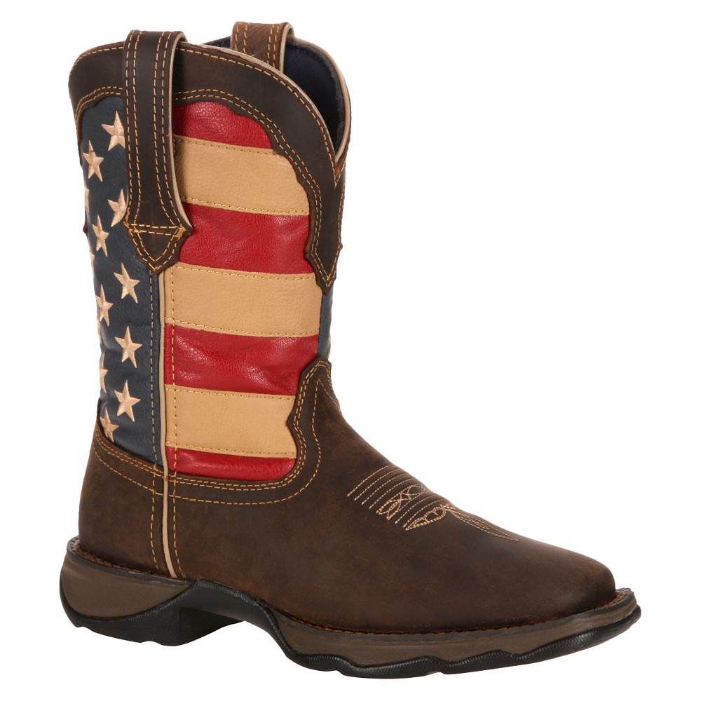 Womens Durango Flag Lady Rebel Boots - Brown/Union Flag 8.5M, Size: 8.5