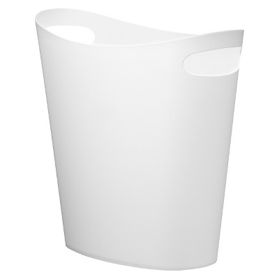Slim Can Bathroom Wastebasket White Umbra Loft