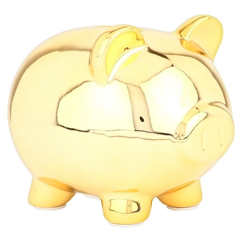Circo Gold Piggy Mini Coin Bank, Gold Coin