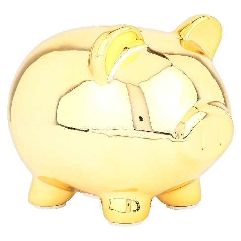 Circo™ Gold Piggy Mini Coin Bank - image 1 of 2