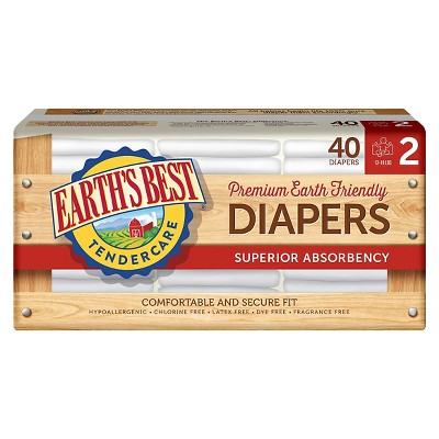Earth's Best Tender Care Diapers Jumbo Pack - Size 2 (40 ct)