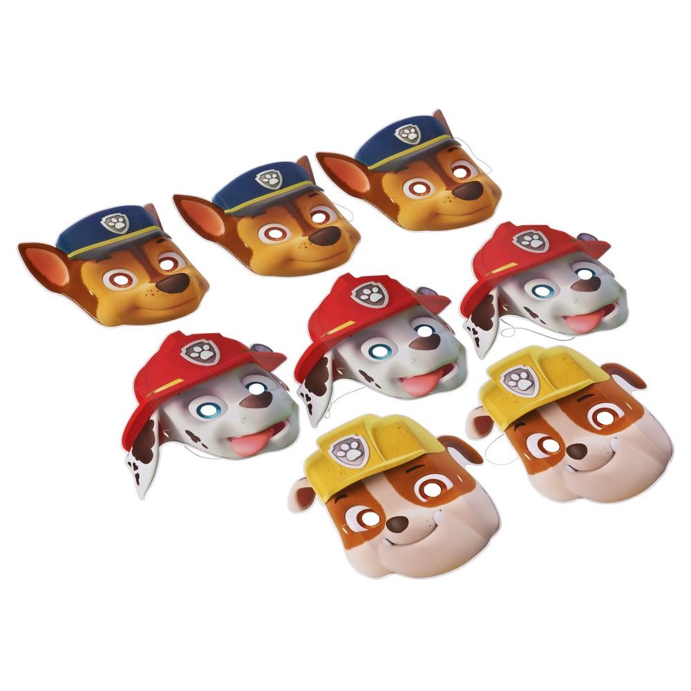 8 ct Paw Patrol Paper Mask, Kids Unisex