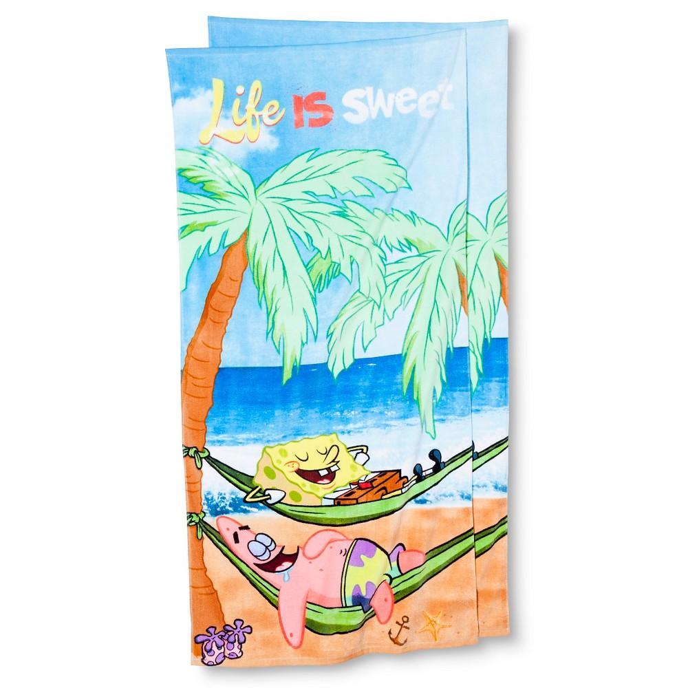 Spongebob Squarepants Beach Towel Set - 2-pk., Multi-Colored