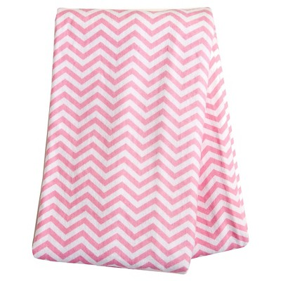 Trend Lab Pink Chevron Flannel Swaddle Blanket