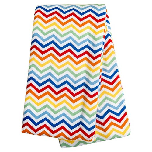 Trend Lab Rainbow Chevron Flannel Swaddle Blanket