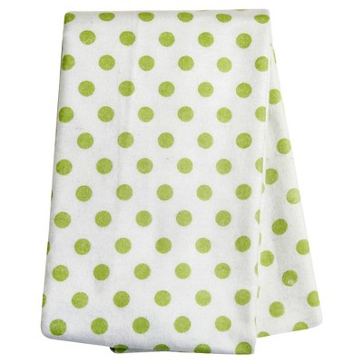 Trend Lab Sage Dot Flannel Swaddle Blanket