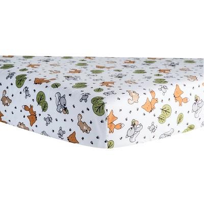 Trend Lab Forest Animal Flannel Crib Sheet