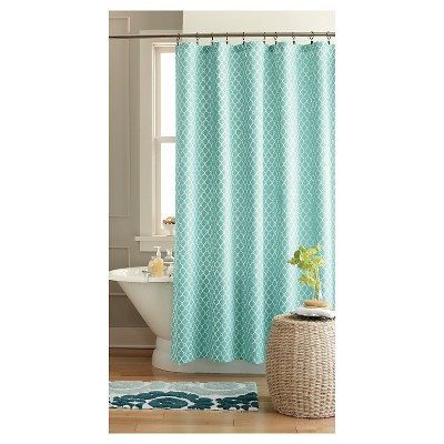 Geo Shower Curtain Green/Blue - Threshold™