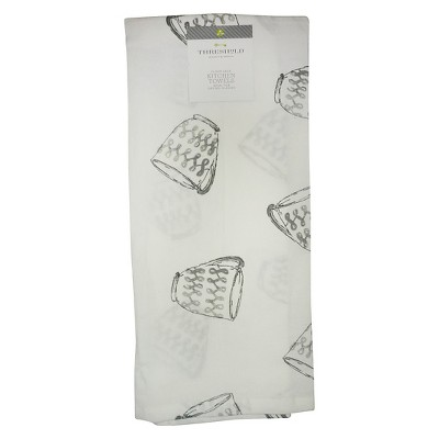 Kitchen Towel Floursack Silver Cups - Threshold™