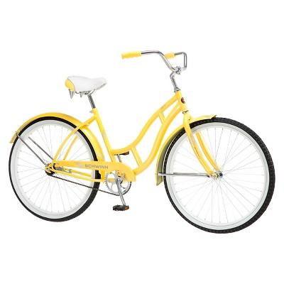 Schwinn Women's Legacy 26  Cruiser Bike- Yellow