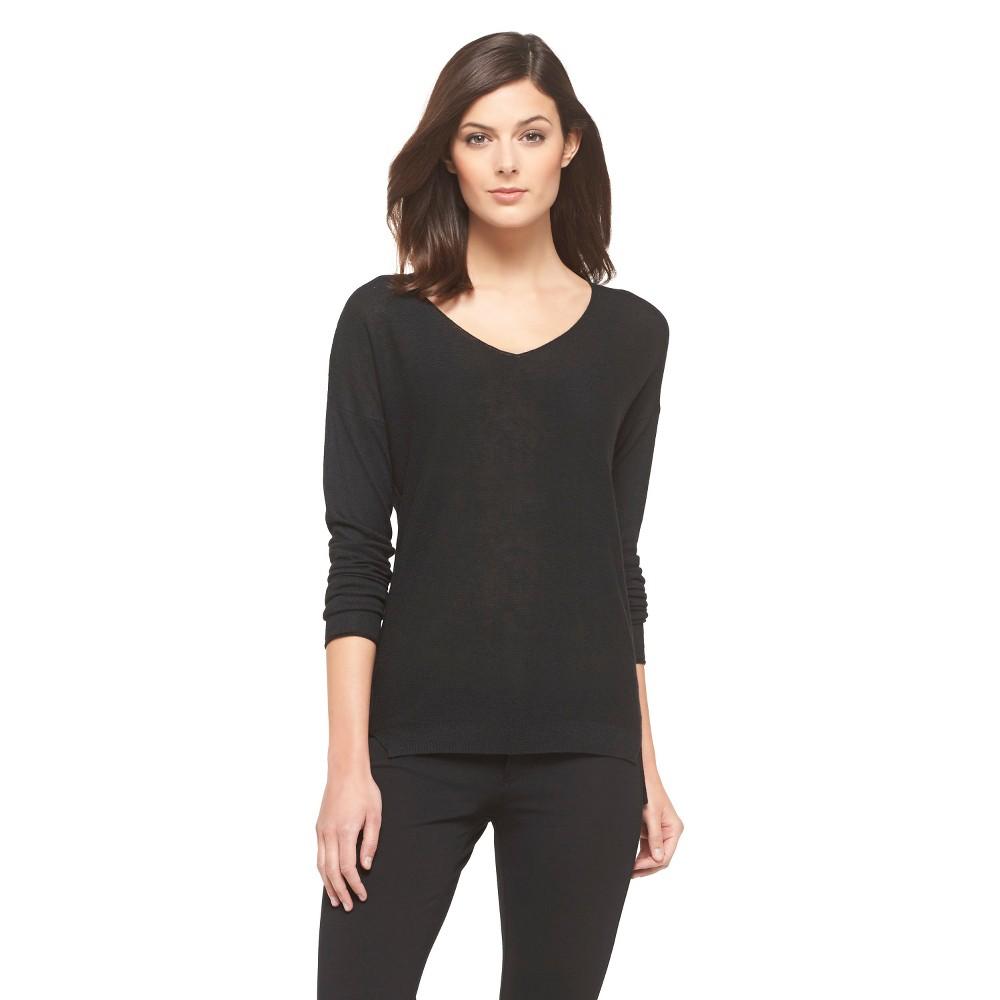 V-Neck Pullover Sweater - Black M - Mossimo, Women's