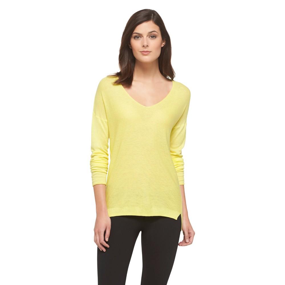 V-Neck Pullover Sweater L Green Sigh - Mossimo, Women's