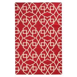 Pantone Matrix Geo 100% Wool Flatweave Rug