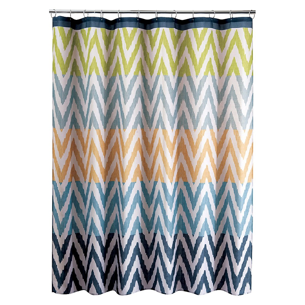 Ikat Shower Curtain,  Multi-Colored