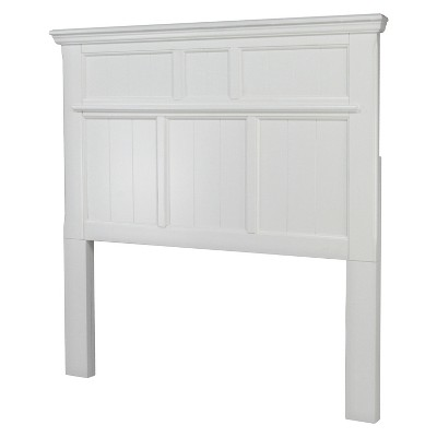 Dakota Adjustable Wood Headboard White Full/Queen - Furniture of America, Winter White
