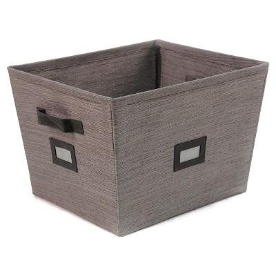 Threshold fabric wire bin, small grey