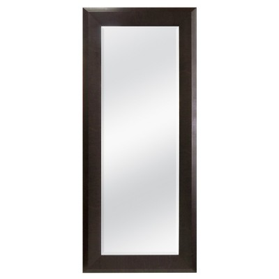 Rectangle Full Length Decorative Wall Mirror Brown - Threshold™