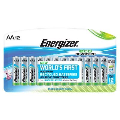 Energizer EcoAdvanced AA Batteries 12 ct