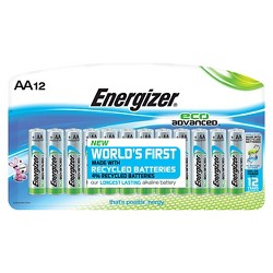 Energizer EcoAdvanced AA Batteries 12 ct