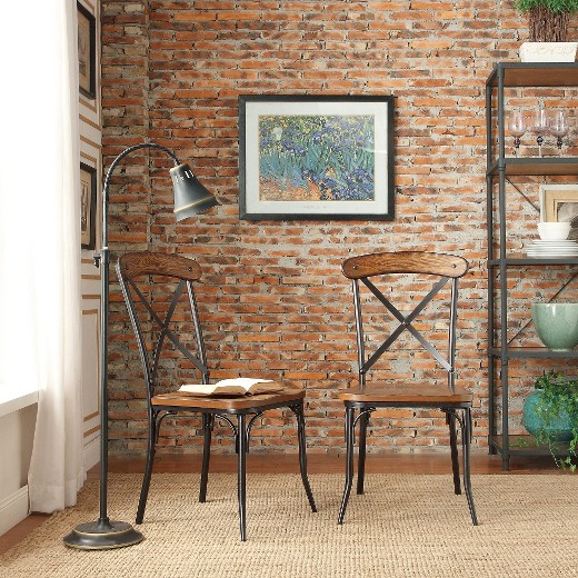 Merida Bistro Dining Chair MetalDistressed Ash Set of 2 – Bistro Dining Chair