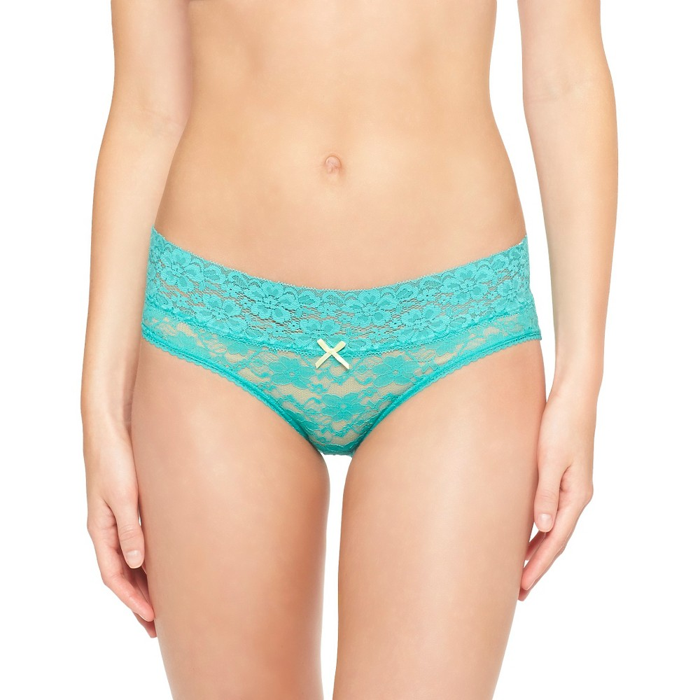 Womens All Over Lace Hipster - Xhilaration High Tide Teal M