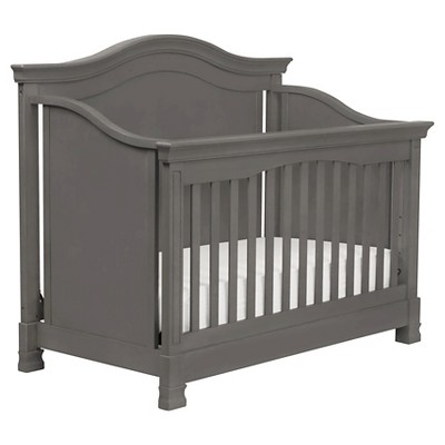 Million Dollar Baby Classic Louis 4-in-1 Convertible Crib with Toddler Rail - Manor Gray