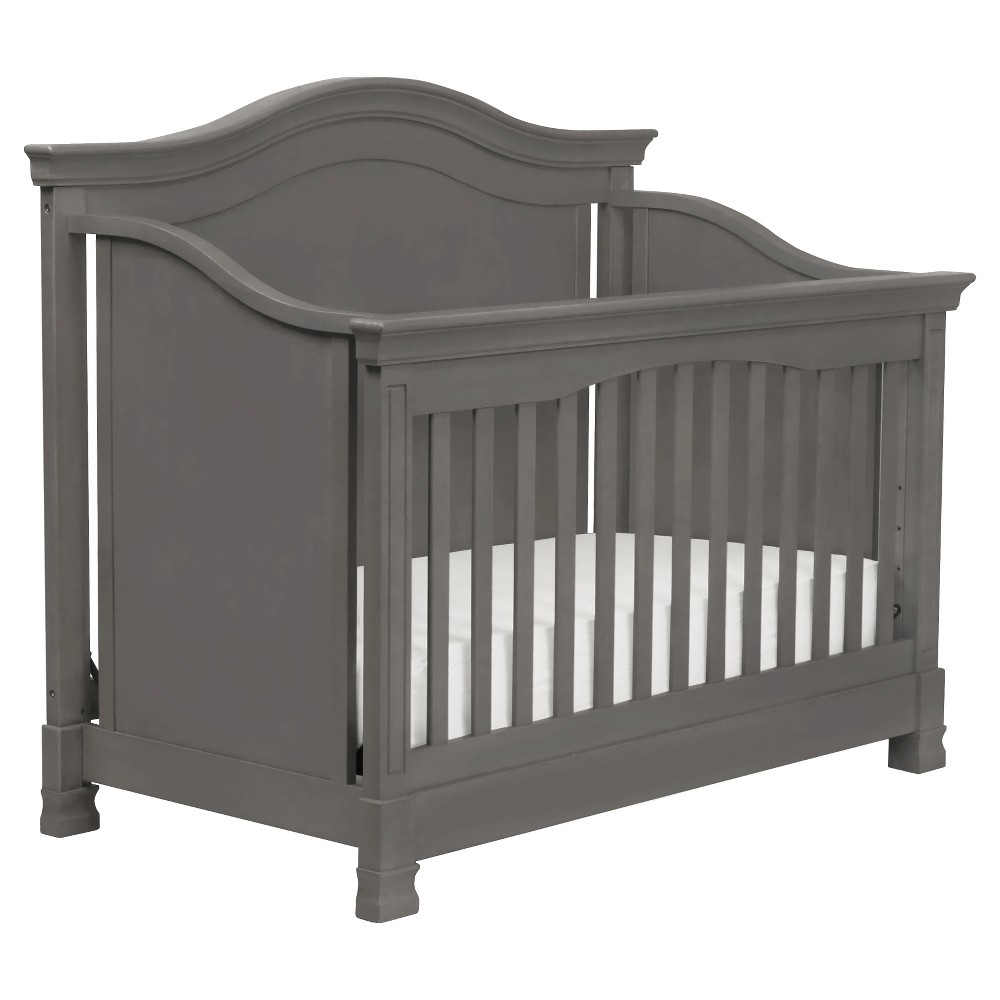 Million Dollar Baby Classic Louis 4 In 1 Convertible Crib With Toddler Rail Manor Gray