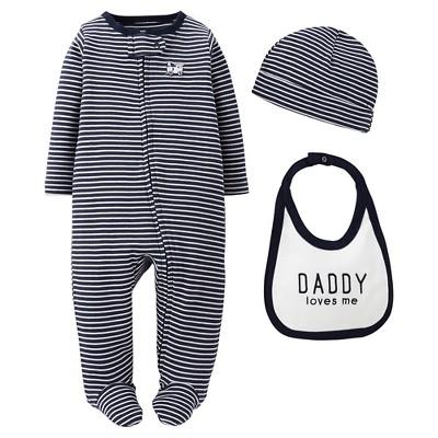 Precious Firsts™Made by Carter's® Newborn Boys' 3 Piece Sleep N' Play Set