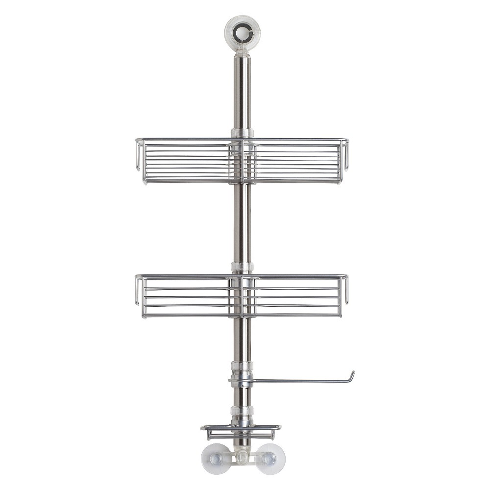 InterDesign Brushed Stainless Steel Shower Caddy, Silver