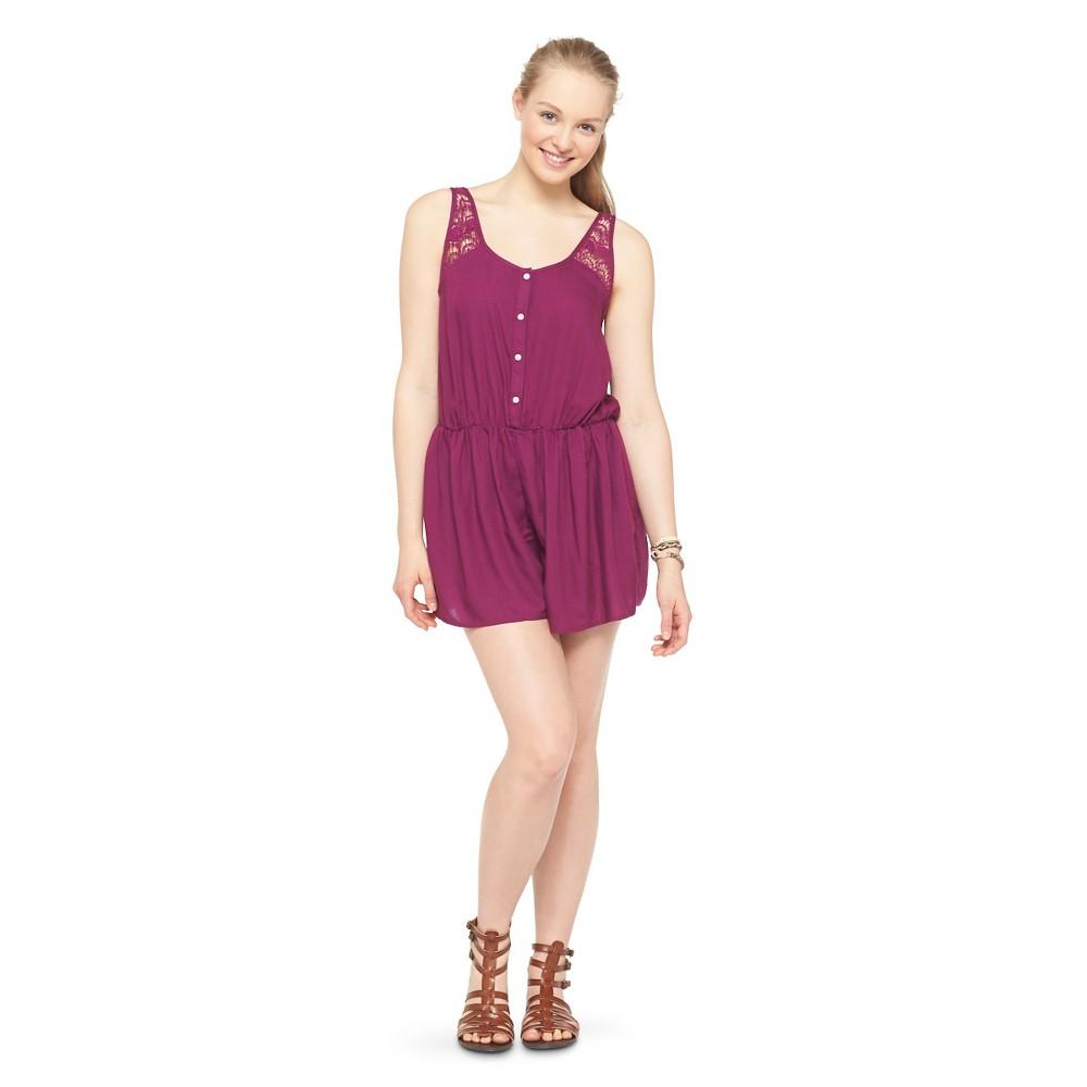 Challis Romper Bright Purple XL - Mossimo Supply Co., Womens