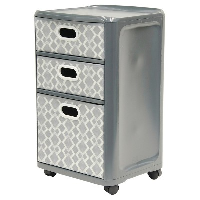 Home Logic 3-Drawer Storage Cart - Gray