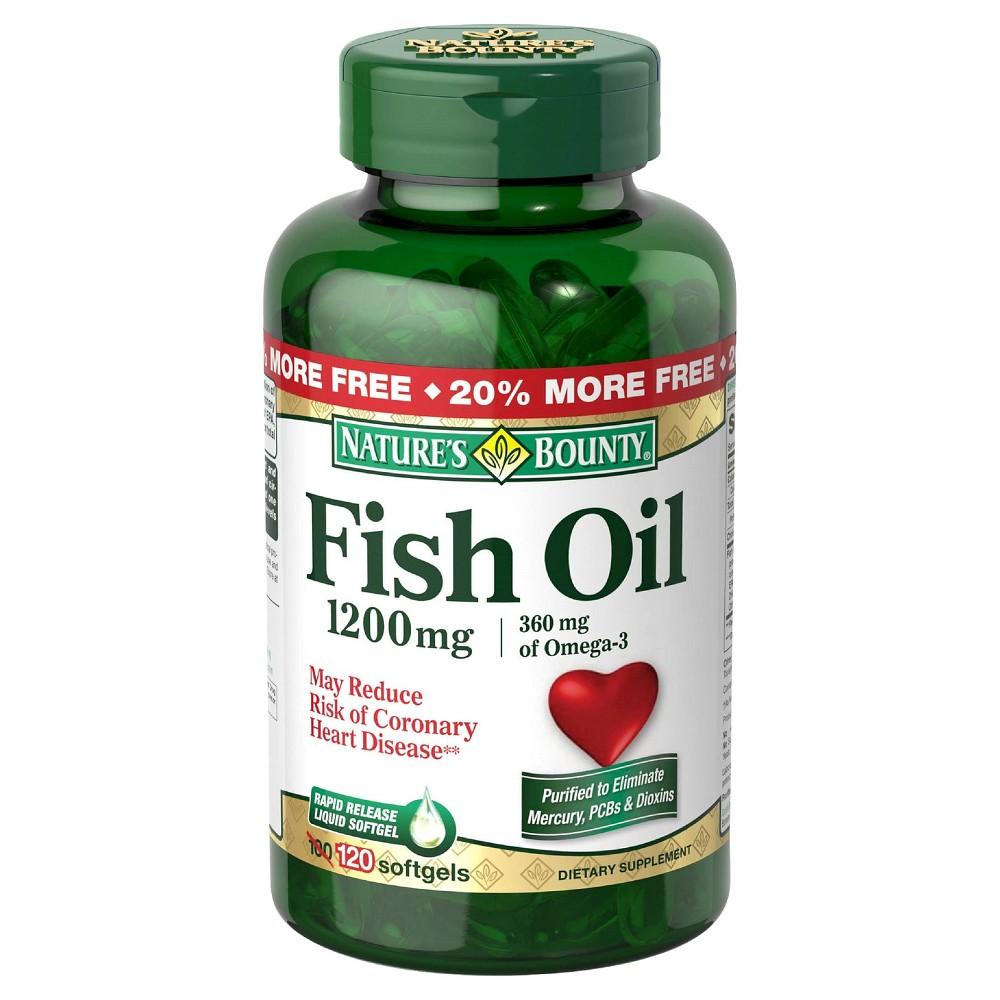 UPC 074312133299 - Nature's Bounty Fish Oil, Omega 3, 1200