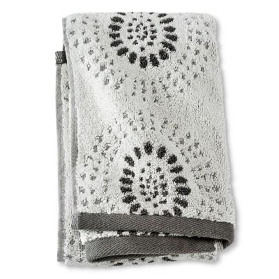Hand Towel Dark Gray Geo - Threshold™