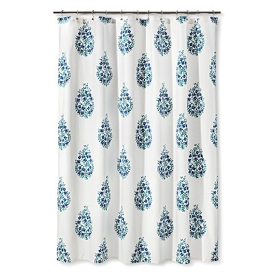 Shower Curtain Blue Green Paisley - Threshold™