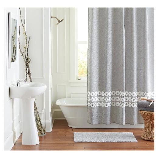 Shower Curtain Gray Circles Threshold Target