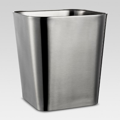 Wastebasket Rounded Square Brushed Nickel - Threshold™