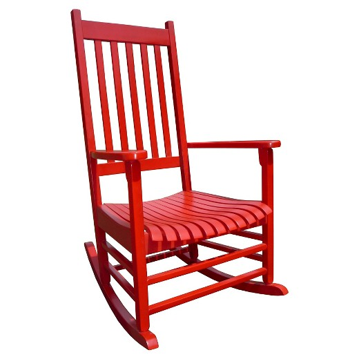 International Concept Patio Rocking Chair Red Tar