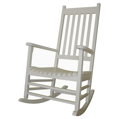 International Concept Patio Rocking Chair - White