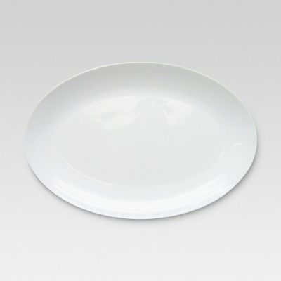 Bone China Oval Serving Platter 14x9.75in - Threshold™