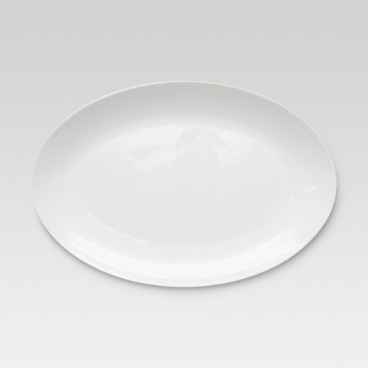 bone china oval serving platter 14x9 75in threshold target