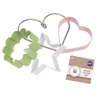 Wilton 3 Piece Cookie Cutter Set - Star, Flower, Heart