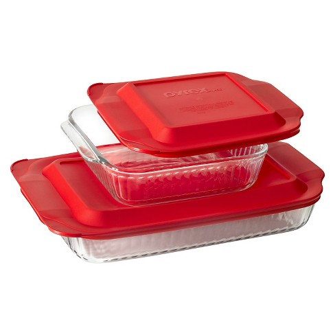 "Pyrex Fluted Glass Bakeware Value Pack- 3qt + 8"" square - image 1 of 1"